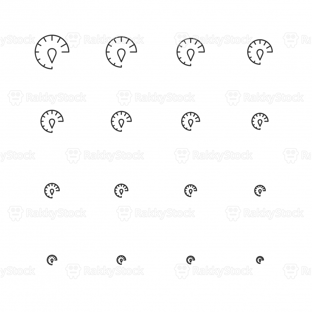 Speed Meter Icons - Multi Scale Line Series