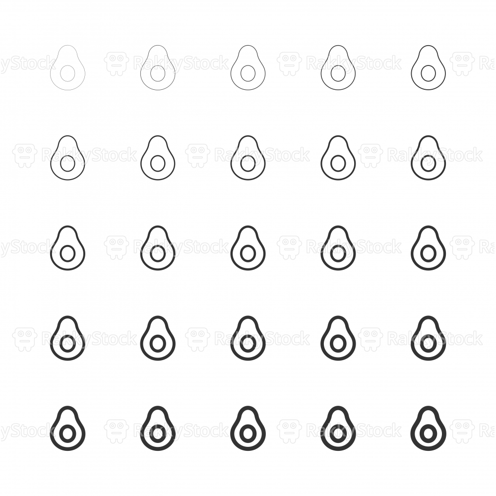 Avocado Icons - Multi Line Series