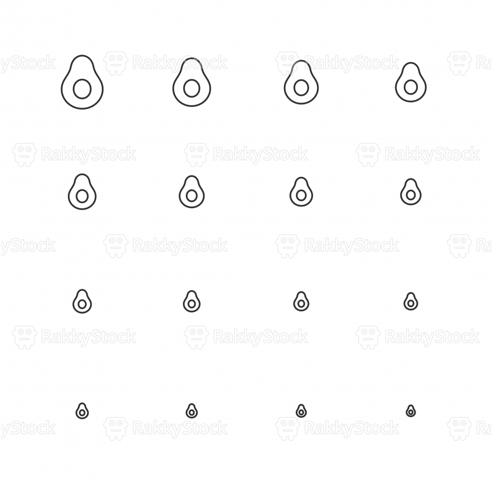 Avocado Icons - Multi Scale Line Series