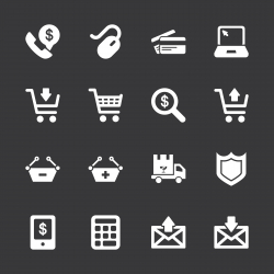 E-commerce Icons - White Series | EPS10