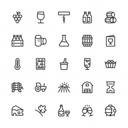 Winery Icons - Line Series