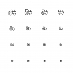 Tractor Icons - Multi Scale Line Series