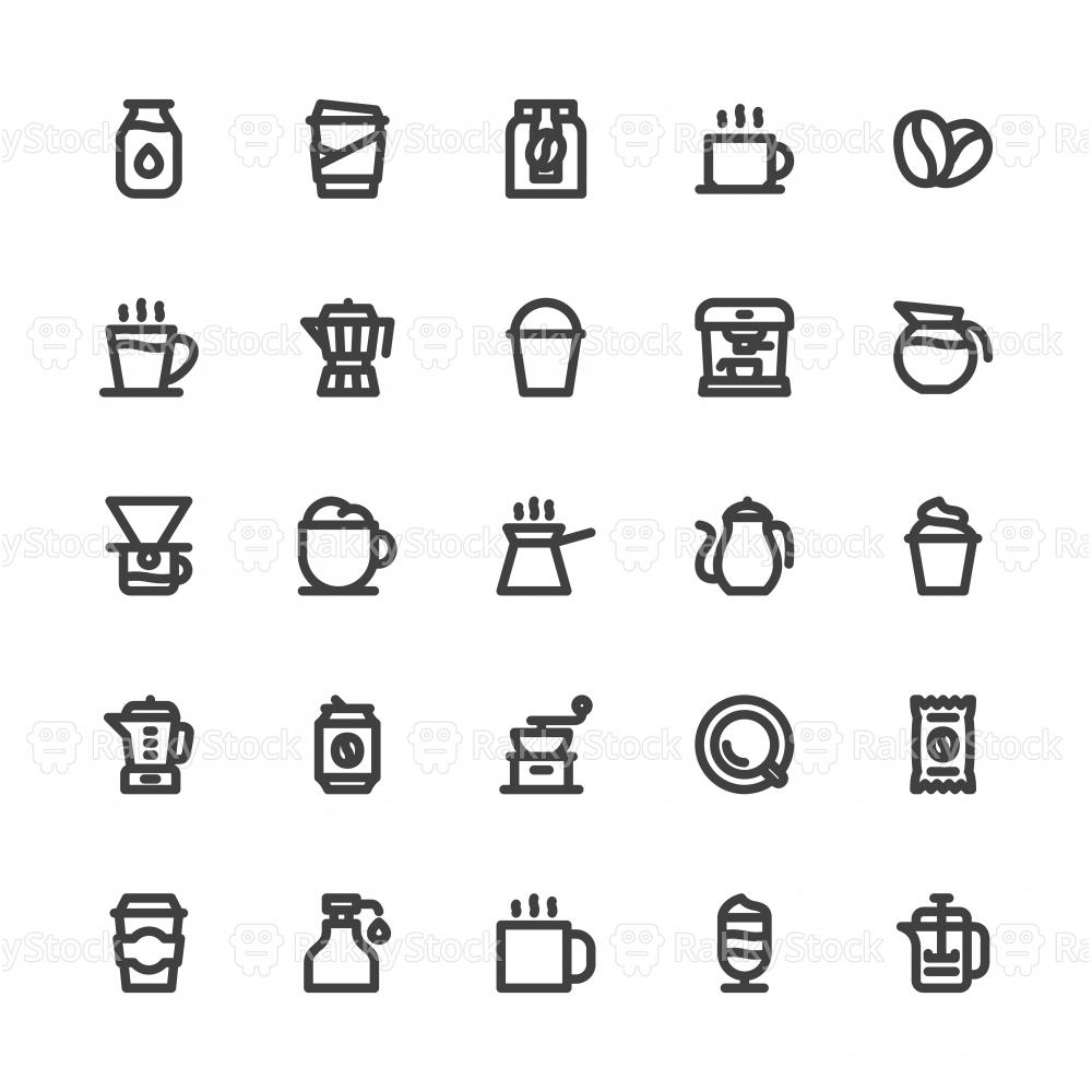 Coffee Icons - Bold Line Series