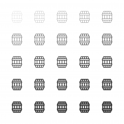 Wooden Barrel Icons - Multi Line Series