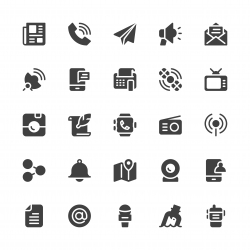Communication Icons - Gray Series