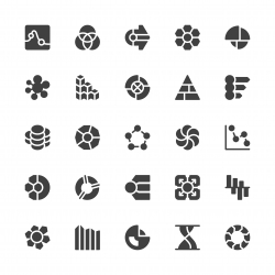 Business Infographic Icons - Gray Series