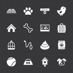 Pet Icons - White Series   EPS10