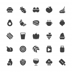Food and Drink Icons Set 2 - Gray Series