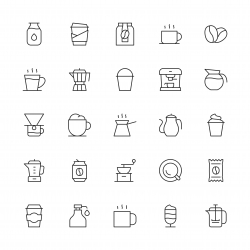 Coffee Icons - Thin Line Series