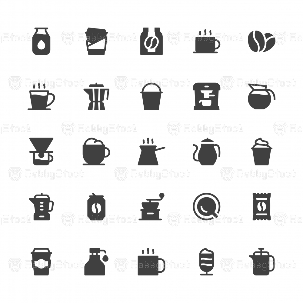 Coffee Icons - Gray Series