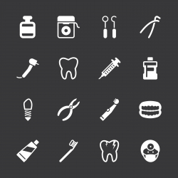 Dental Icons - White Series | EPS10