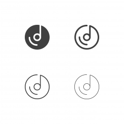 Musical Disc Icons - Multi Series