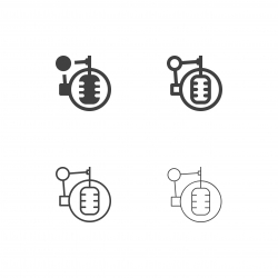Recording Studio Microphone Icons - Multi Series