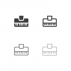 Electronic Music Keyboard Icons - Multi Series