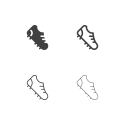 Soccer Stud Shoe Icons - Multi Series