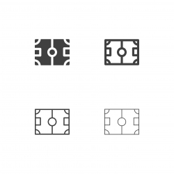 Soccer Field Icons - Multi Series
