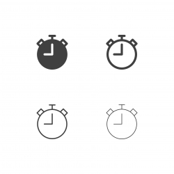 Stopwatch Icons - Multi Series