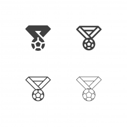 Soccer Medal Icon - Multi Series