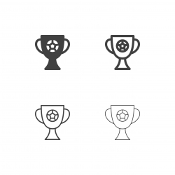 Soccer Trophy Icons - Multi Series