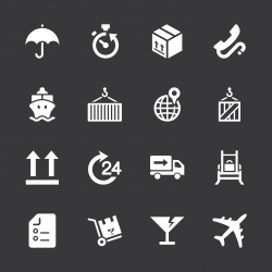 Logistics and Shipping Icons - White Series | EPS10