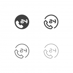 24 Hr Service Icons - Multi Series