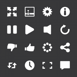 Video Streaming Icons - White Series | EPS10