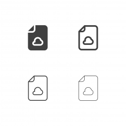 Cloud Computing File Icons - Multi Series