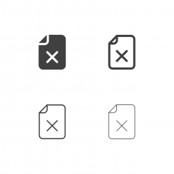 Rejected File Icons - Multi Series