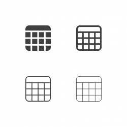Calendar Icons - Multi Series