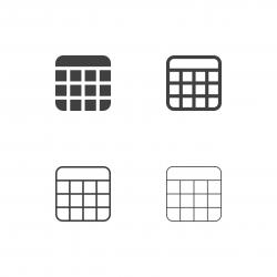 Calendar Icons - Multi Series