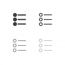 Bullet List Icons - Multi Series