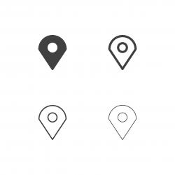 Map Pin Icons - Multi Series