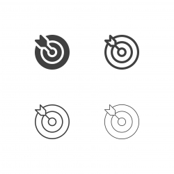 Target and Arrow Icons - Multi Series