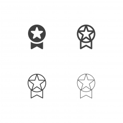 Star Badge Icons - Multi Series