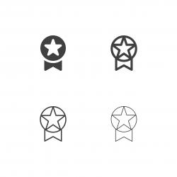 Star Badge Icons - Multi Series