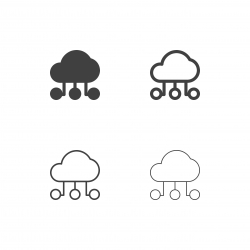 Cloud Connection Icons - Multi Series