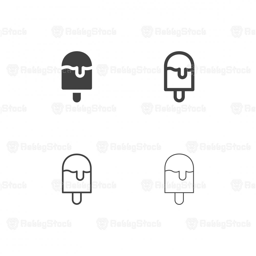 Ice Cream Bar Icons - Multi Series