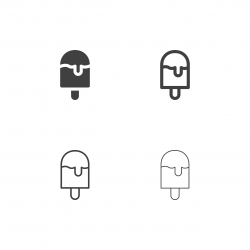 Ice Cream Bar Icons - Multi Series