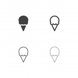 Ice Cream Cone Icons - Multi Series