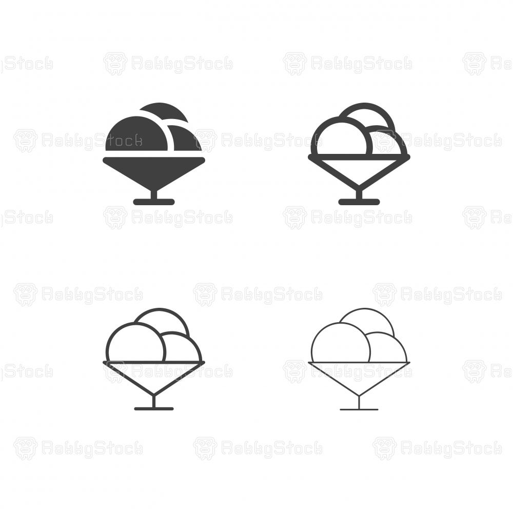 Ice Cream Bowl Icons - Multi Series