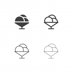 Ice Cream Bowl Icons - Multi Series