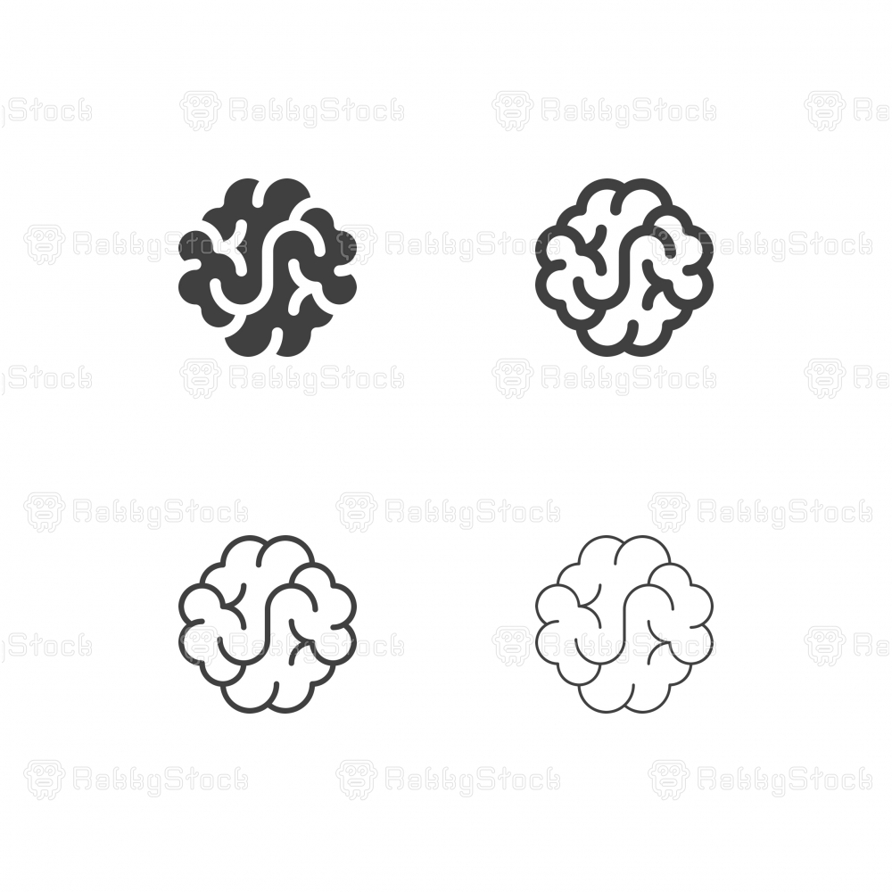 Brain Icons - Multi Series