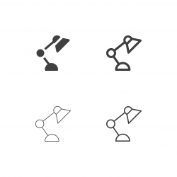 Desk Lamp Icons - Multi Series