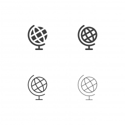 Desktop Globe Icons - Multi Series