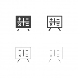 Mathematical on Board Icons - Multi Series