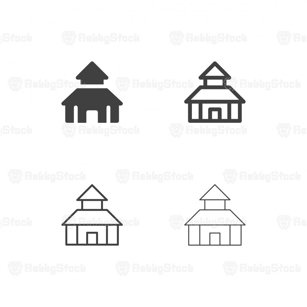 School Building Icons - Multi Series