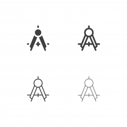 Drawing Compass Icons - Multi Series