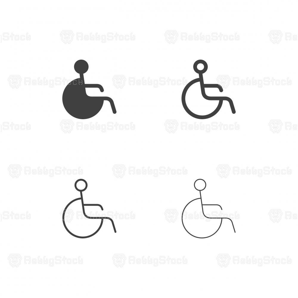 Handicap Sign Icons - Multi Series