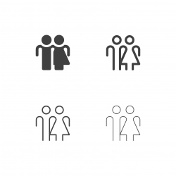 Human Sign Icons - Multi Series