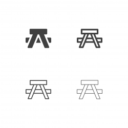 Camping Bench Icons - Multi Series